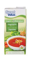 Bouillon de légumes biologique de Great Value