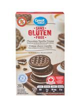 Great Value Gluten Free Chocolate Vanilla Crème Sandwich Cookies