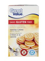 Great Value Gluten Free Vanilla Crème Sandwich Cookies