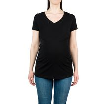 George Ladies Maternity V-Neck Tee Black M/M