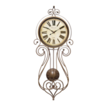 Wrought Iron Regulator Wall Clock