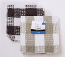Mainstays 8-pack waffle dishcloths Brown/tan