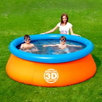 Splash & Play Piscine ronde gonflable Aventure Interactive en 3D