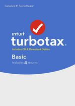 TurboTax Basic 2016, 4 returns, Bilingual
