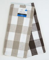 Mainstays 4-pack waffle kitchen towels Brown/tan