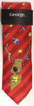 George Reindeer Lights Xmas Tie