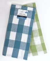 Mainstays 4-pack waffle kitchen towels Blue/Green