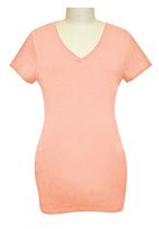 George Ladies Maternity V-Neck Tee Pink S/P