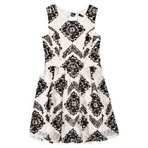 George Girls Flocked Bow Back Skater Dress 10