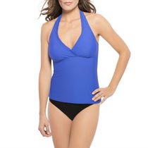 Krista Women's Swim Tankini Halter Royal Medium