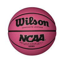 Ballon de basketball rose réplique Wilson NCAA S6