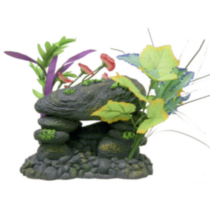 Blue Ribbon XL Floral Rock / Wood Aquarium and Terrarium Ornament