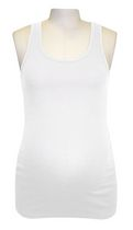 George Ladies Maternity Ribbed Tank White L/G