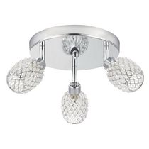 Globe Electric 58785 3 Light Canopy Spot Light Kit with Chrome and  Crystal Finish