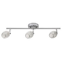 Globe Electric 58786 3 Light Track Light Kit, Chrome Crystal Finish