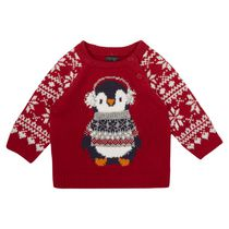 George Brtish Design Baby Boys' Penguin Sweater 18-24 months