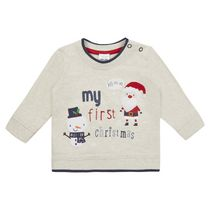 George British Design Baby My 1St Xmas Scene Long Sleeve Top 6-12 months
