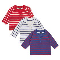 George British Design Baby Boys' 3Pk Stripe Long Sleeve Top 3-6 months