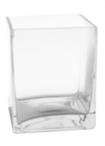 Hometrends® Square glass vase