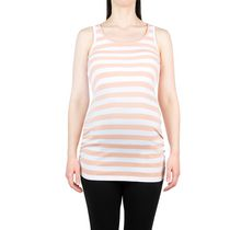 George Ladies Maternity Ribbed Tank Pink stripes L/G