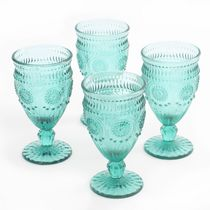 The Pioneer Woman 12-Ounce Footed Glass Goblets