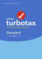 TurboTax Standard 2016, 8 returns, Bilingual
