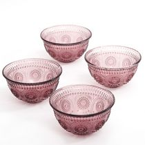 The Pioneer Woman Adeline 4-Pack 13oz. Emboss Glass Bowl