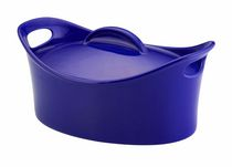 Rachael Ray Stoneware Casseroval Covered Baking Dish Blue