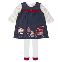 George British Design Baby Girls' Gingerbread Ponte Overall 18-24 months