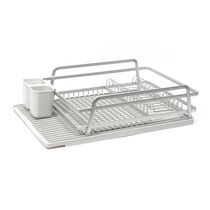 Tada Dish Rack with Light Grey Silicone Drying Mat