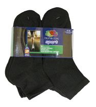 Fruit of the Loom - Ladies Sport Ankle - 6 pairs Black