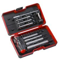 Felo-Smart 21 pcs. Engineer Set M-Tec Nut Driver and 2 in 1 Screwdriver and T-Handle in Strong Box