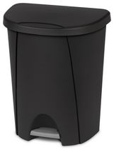 Sterilite 25 Liter Black Step Can