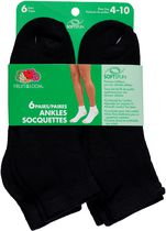 Fruit of the Loom Ladies Ankle Socks - 6 Pairs