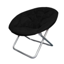 Mainstays Faux-Suede Moon Chair Black