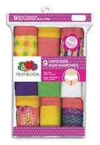 Girls 9pk Hipsters 14