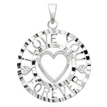 "Sterling Silver ""I Love You Forever"" Charm"