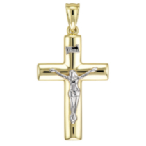 Men's 10k Yellow Gold Crucifix
