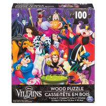 Cardinal Games Disney Villains 100 Piece Wood Jigsaw Puzzle