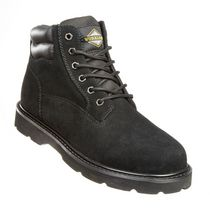Workload Men's Sam Leather Soft Toe Workboot Black 9