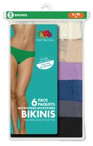 Fruit of the Loom Ladies 6-Pack Microfiber Bikinis 6