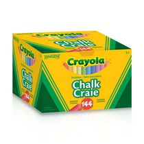 Crayola Dustless Assorted Colours Chalk, Pack of 144 Sticks