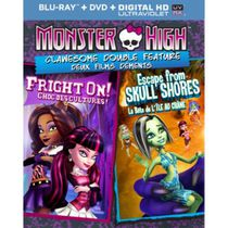 Monster High: Clawesome Double Feature - Escape From Skull Shores / Fright On! (Blu-ray + DVD + Digital HD) (Bilingual)
