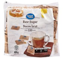 Great Value Raw Sugar Packets
