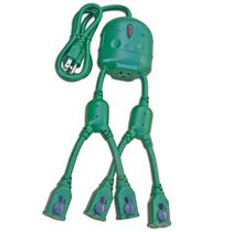 CJ Tech 5 Outlet Power Squid - Green