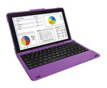 "RCA 10"" Android Tablet in Blue with Folio Keyboard Case Purple"