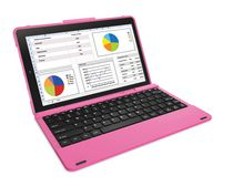 "RCA 10"" Android Tablet in Blue with Folio Keyboard Case Pink"