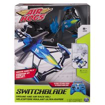 Air Hogs Switchblade Ground and Air Race Blue RC Helicopter-