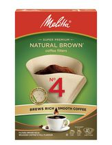 Melitta Cone Coffee Filters - Natural Brown - No 4/40 ct