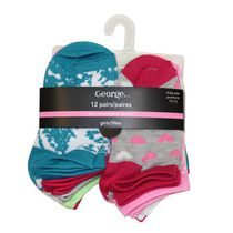 George Girls No Show Low Cut Socks 13-4